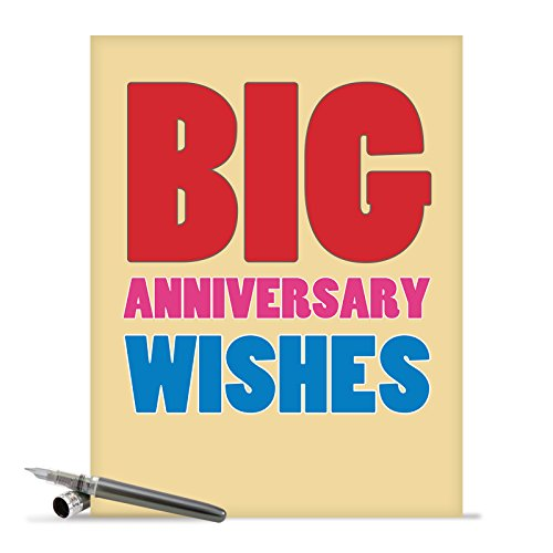 """J2722ANG Jumbo Hilarious Anniversary Card: 'BigWishes' with Envelope (Large Size: 8.5"""" x 11"""")"""