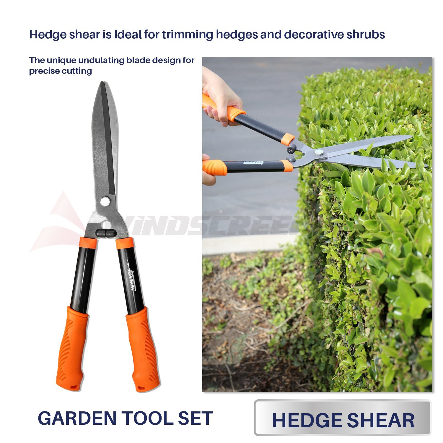 3 PieceWalmartbo Garden Tool Set with Lopper, Hedge Shears and ...