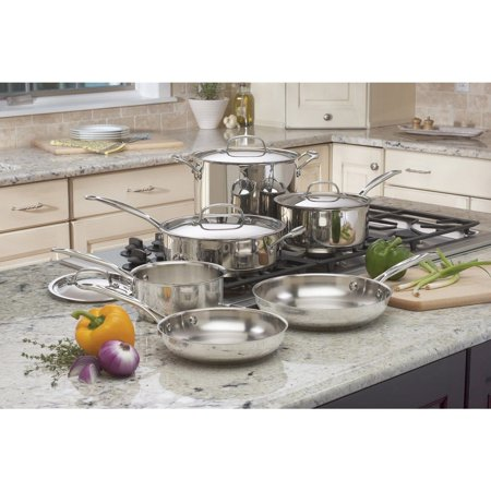 Cuisinart Chef's Classic Stainless Steel 11-Piece Cookware Set (77-11G)