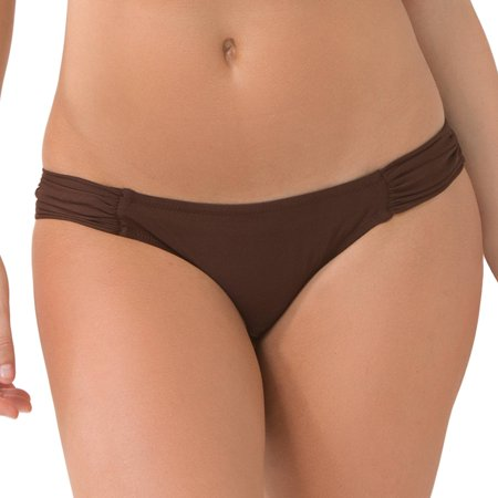 Brown Swim Bottom (Women's Swim Secret Side Ruched Swimsuit)