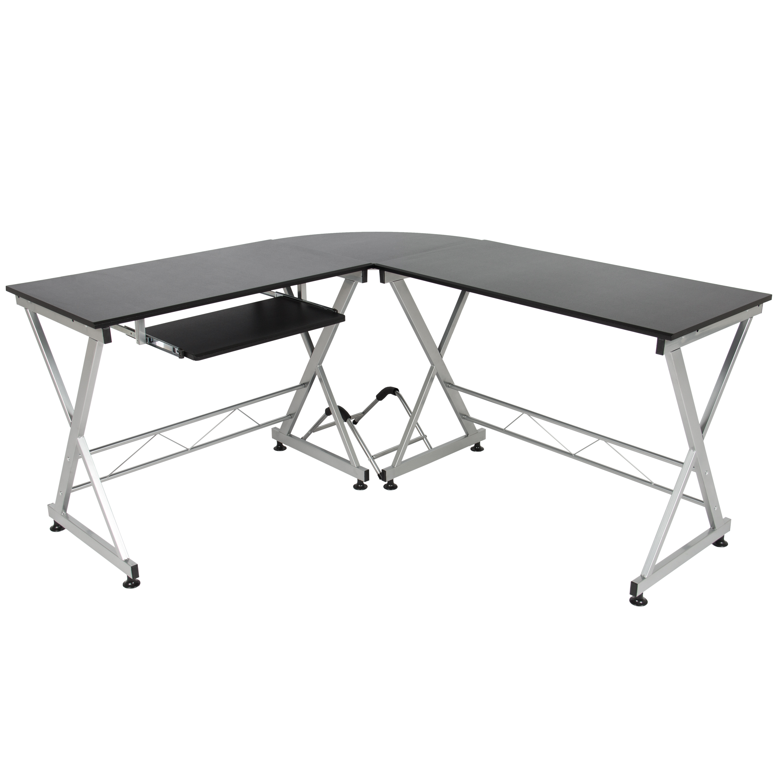 Superbe Best Choice Products Wood L Shape Corner Computer Desk PC Laptop Table  Workstation Home Office (Black)   Walmart.com