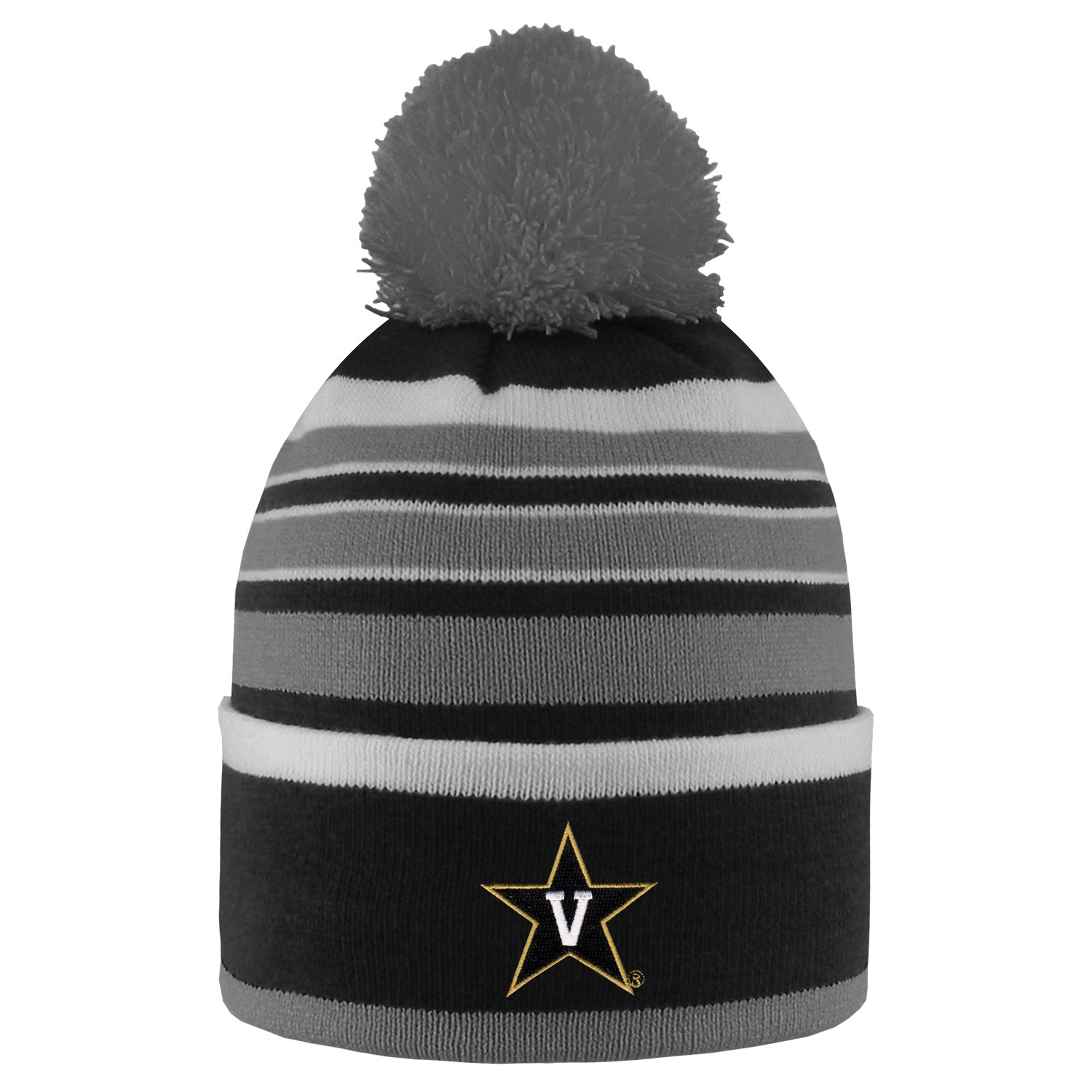 Vanderbilt University Bradshaw Striped Pom Beanie by
