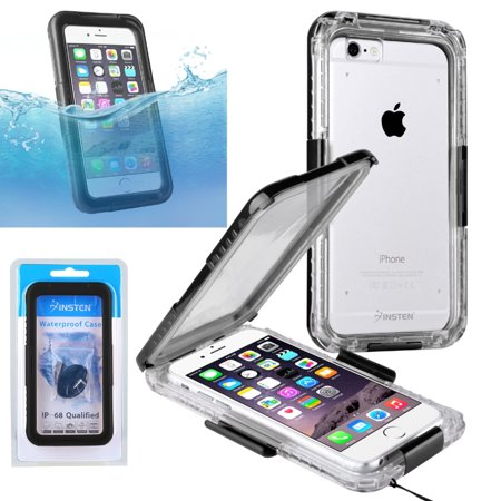 Insten waterproof ip 68 certified shockproof dirt dust for Housse etanche iphone