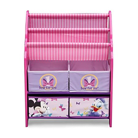 Disney Minnie Mouse Book and Toy Organizer, Multicolor, RWalmartmended for ages 3-6 Top two tiers can hold books and or magazines By Delta Children - Shopping Magazine