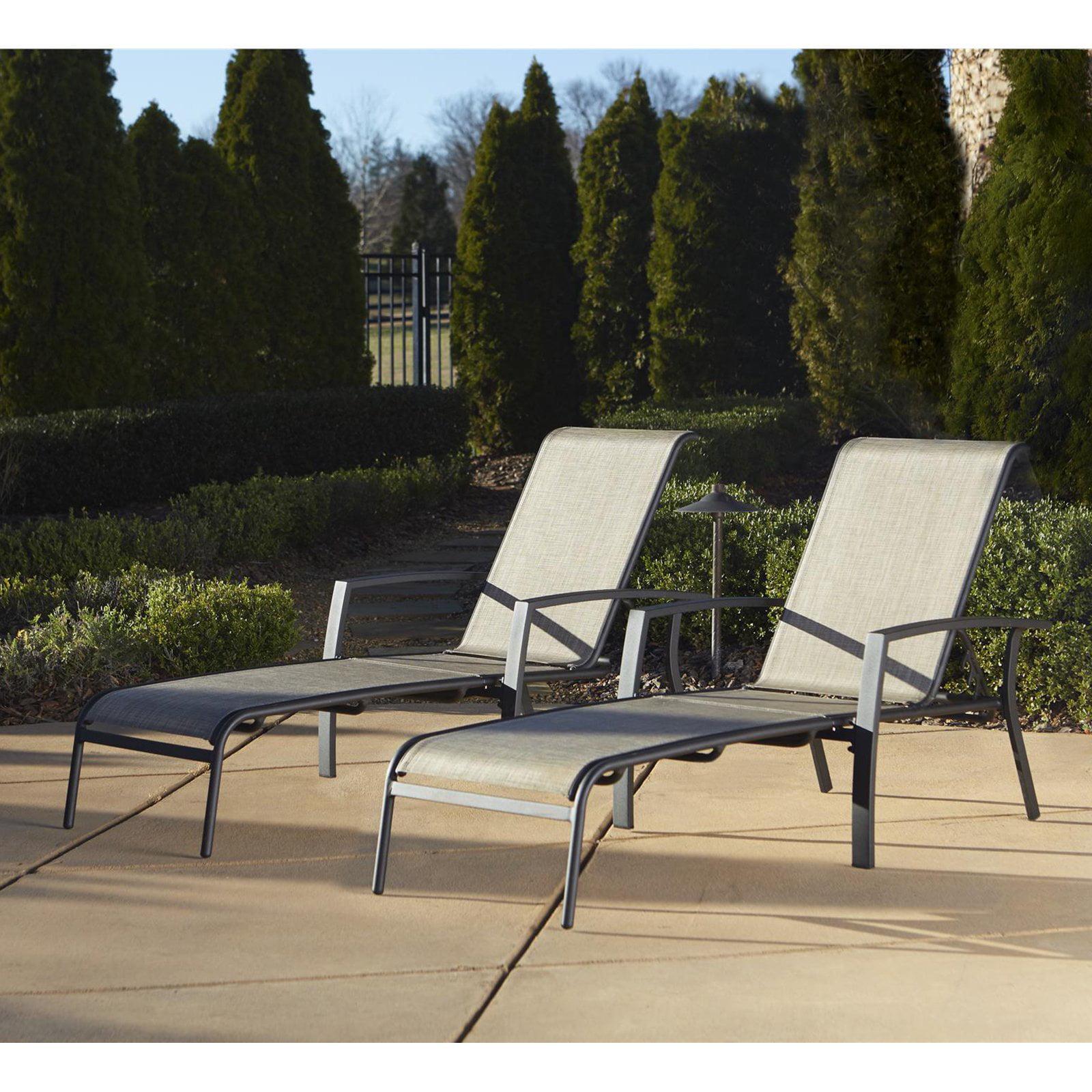 Cosco Serene Ridge Outdoor Aluminum Chaise Lounge Pack Of