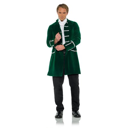 Mens Greek Halloween Costumes (Green Mens Adult Victorian Fantasy Steampunk Halloween Costume Frock)