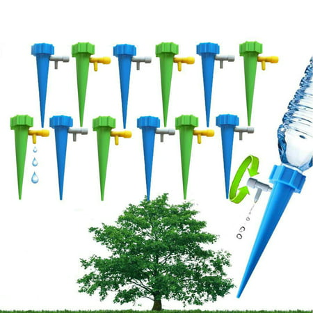 12PCS Home Automatic Plant Watering Tool Drip Irrigation System Gardening Accessories Decoration ()