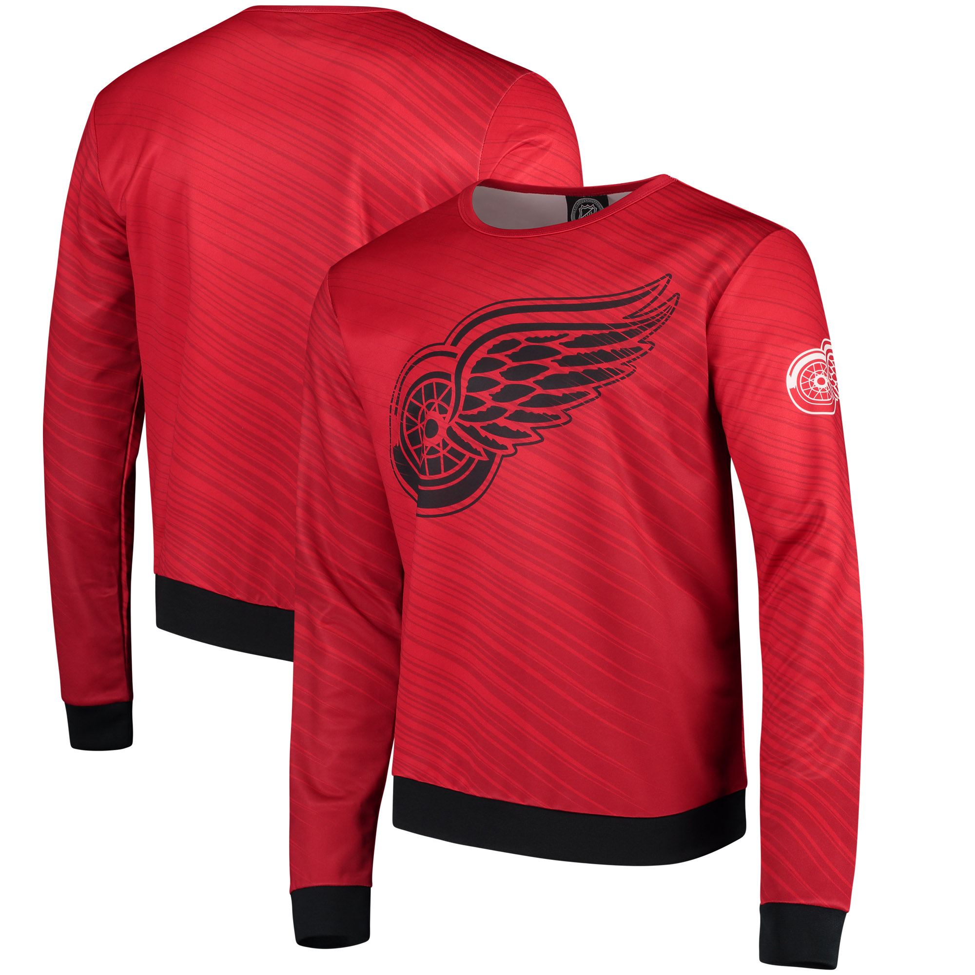 Detroit Red Wings Static Rain Printed Sweatshirt - Red