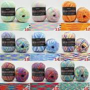 3 ply Milk Cotton Yarn Handmade DIY Colorful Cotton Yarn Scarf Pillow Knitting Yarn Blanket Knitting Crochet Yarn Soft Milk Cotton Yarn