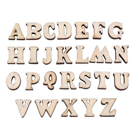 Hilitand Education Wooden Numbers, Wooden Letters Toy,Kids Wooden Alphabet Letters & Numbers Child Educational DIY Wood Toy Set(#1 Letters, #2 Numbers)