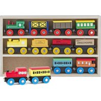 Wooden Train Set 12 PCS - Train Toys Magnetic Set Includes 3 Engines - Toy Train Sets For Kids Toddler Boys And Girls - Compatible With Thomas Train Set Tracks And Major Brands - Original