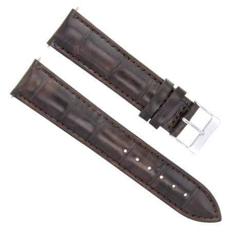 18MM GENUINE ITALIAN LEATHER STRAP BAND FOR BULOVA WATCH  DARK BROWN Dark Brown Leather Band