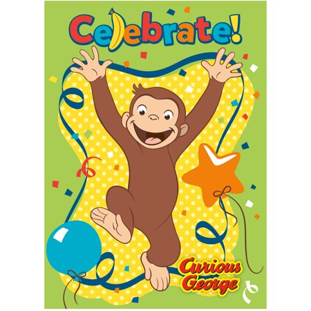Curious George Invitations, 8ct](Curious George Party Theme)