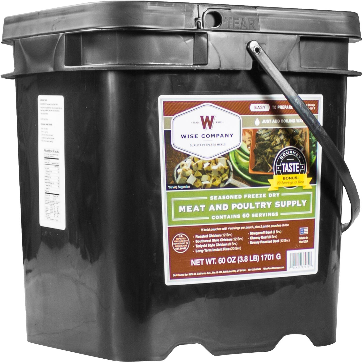 Wise Company Seasoned Freeze Dried Meat & Poultry Food Supply Kit, 80 pc by Wise Company, Inc