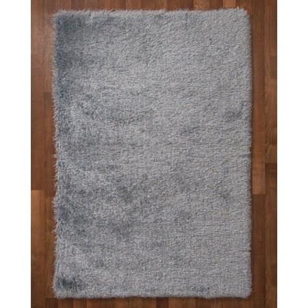 NaturalAreaRugs Orlando Polyester Shag Area Rug, Hand Tufted, 2 Inches Thick, Soft, Durable, Luxurious, Cotton Backing, Eco-Friendly, Gray Color, (5 Feet X 8 (Durable Cotton Rug)
