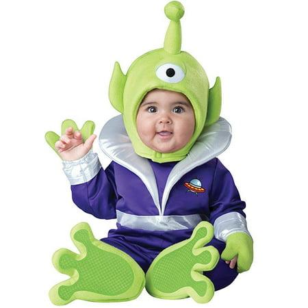 Alien Movie Halloween Costume (uhc baby boy's mini martian alien toy movie theme infant halloween costume,)