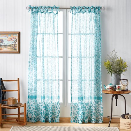 The Pioneer Woman Country Calico Pole Top Curtain Panel