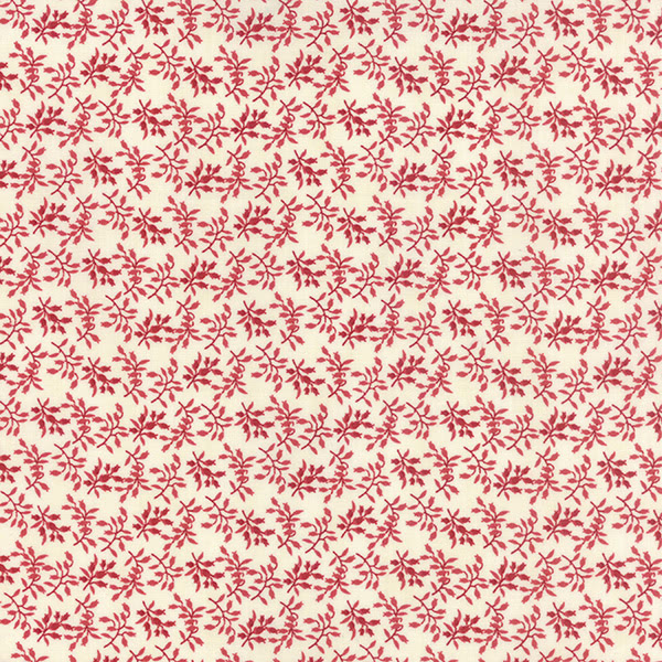 Moda 3 Sisters Holly Woods Christmas Floret Red