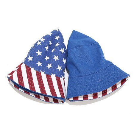 Bucket Hat Reversible American Flag Sun Hat Summer Cap for Outdoors Camping Fishing - image 3 de 9