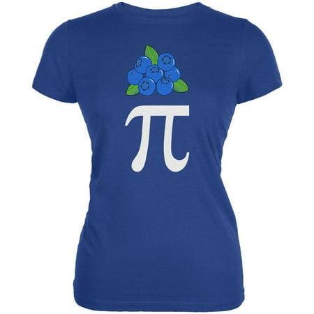 Halloween Math Pi Costume Blueberry Day Juniors Soft T Shirt (Days Til Halloween)