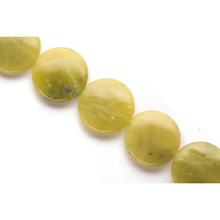 - Puffed Olive New Jade Flat Round Beads Semi Precious Gemstones Size: 29x29mm Crystal Energy Stone Healing Power for Jewelry Making