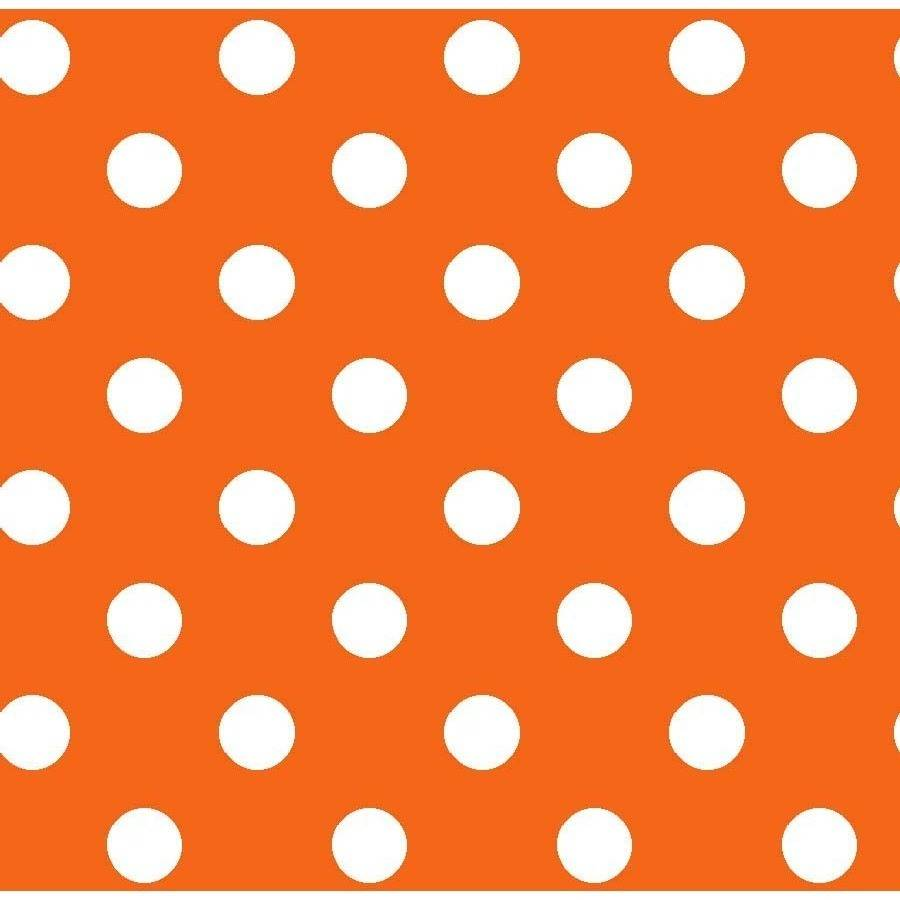 "Basic Dots, Orange, 100 Percent Cotton, 43/44"" Width, Fabric by the Yard"