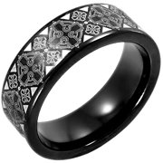 Men s Black IP Tungsten Celtic Cross Pattern Wedding Band   Mens Ring Image  2  Men s Black IP Tungsten Celtic Cross Pattern Wedding Band   Mens  . Mens Cross Wedding Band. Home Design Ideas