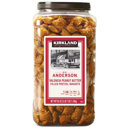 - Kirkland Brand Peanut Butter Filled Pretzel Nuggets, 55 oz