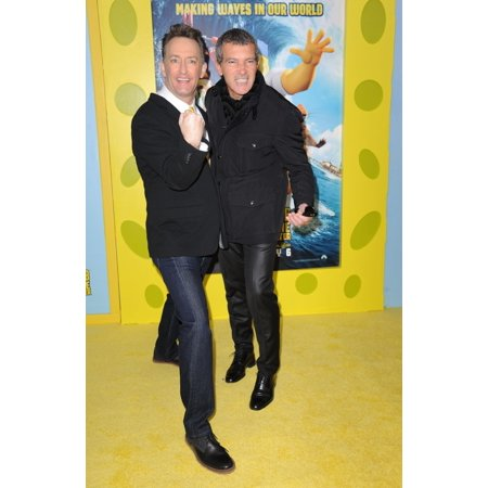 Tom KennyAntonio Banderas At Arrivals For The Spongebob Movie Sponge Out Of Water Premiere Amc Loews Lincoln Square New York Ny January 31 2015 Photo By Kristin CallahanEverett Collection Celebrity