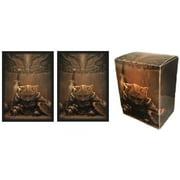MAX PRO END OF THINGS aka Skyrim Kitty DECK BOX + 100 Matching GLOSS Finish Sleeves (fits Magic / MTG Cards)