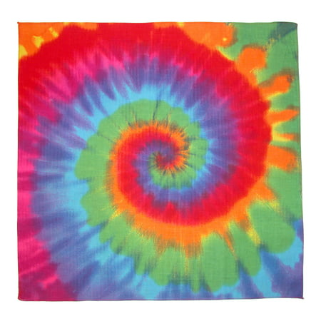 Size one size Rainbow Tie Dye Bandana, Multi-Color - Custom Bandana