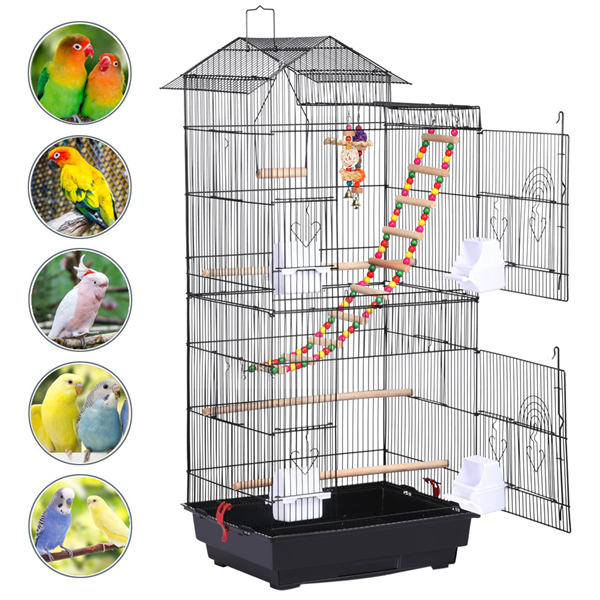 Bird Supplies Other Bird Supplies Smart Bird Canaries Cage Finches Feeder Seats Plastic Swing Hook Bird Pet