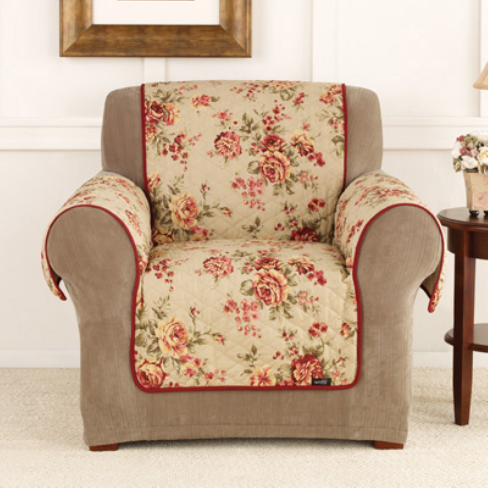 Sure Fit Lexington Floral Sofa Pet Throw Walmart