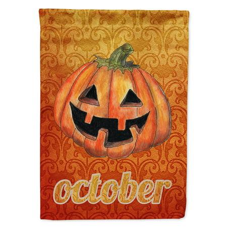 October Pumpkin Halloween Flag Canvas House Size - Octobre Halloween