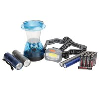 Ozark Trail 6-Piece Flashlight, Headlamp, Lantern & Penlight Combination