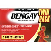Bengay Ultra Strength Pain Relieving Cream, 4 Oz Tubes, 2 Ct