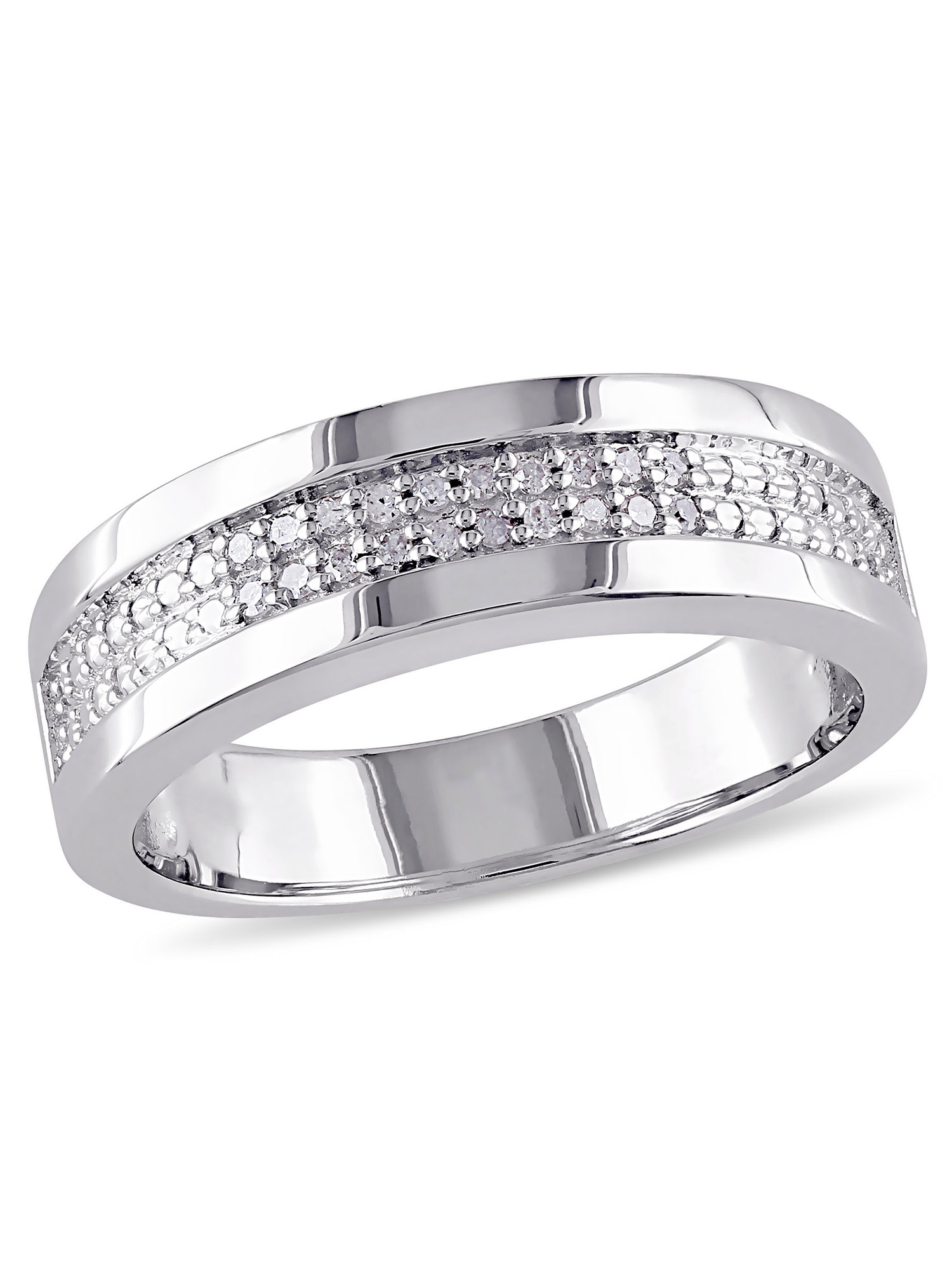 100S JEWELRY Tungsten Rings for Men Wedding Band White Gold Brick Pattern Rhodium Plated Sizes 8-16