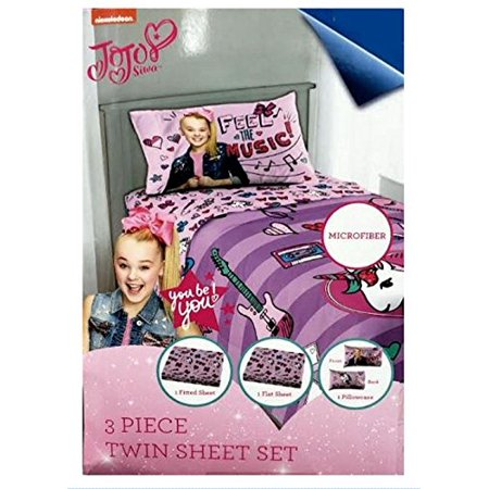 JoJo Siwa Feel The Music Girls Twin Sheet Set 3 Piece - Halloween Themed Sheet Music