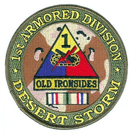 MAGNET 1st Armored Division Desert Storm Patch Desert Storm Vet Patch
