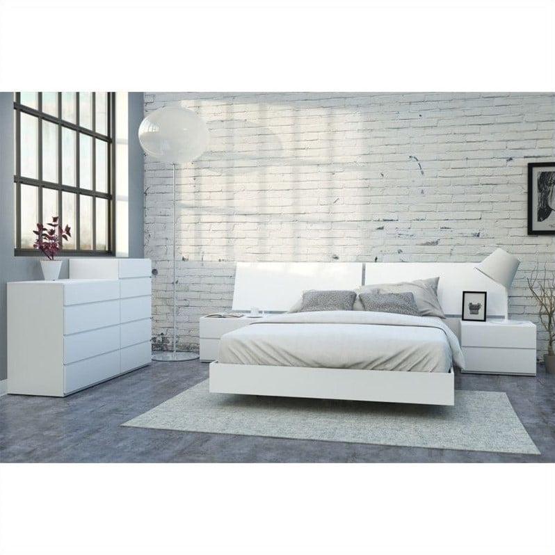 Nexera District 6 Piece Queen Bedroom, White Bedroom Furniture Canada