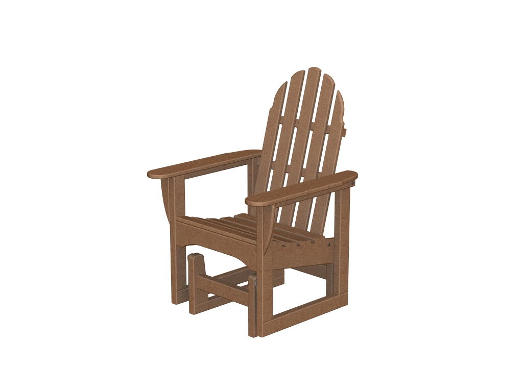Recycled Plastic Adirondack Glider Chair by Poly-Wood Adirondack