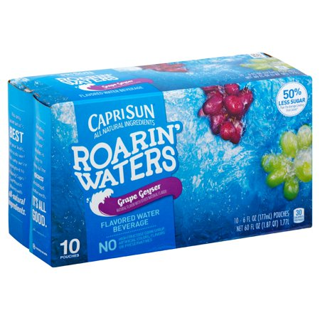(4 Pack) Capri Sun Roarin' Waters Grape, 10 - 6 fl oz Pouches - Halloween Capri Sun