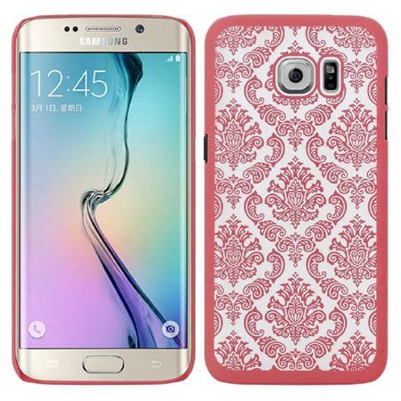 SOGA Galaxy S7 Edge Case, [Ultra Thin Lace Series] TPU Design Ultra Slim Hard Back Case Cover for Samsung Galaxy S7 Edge - Rose Gold - Galaxy Laces