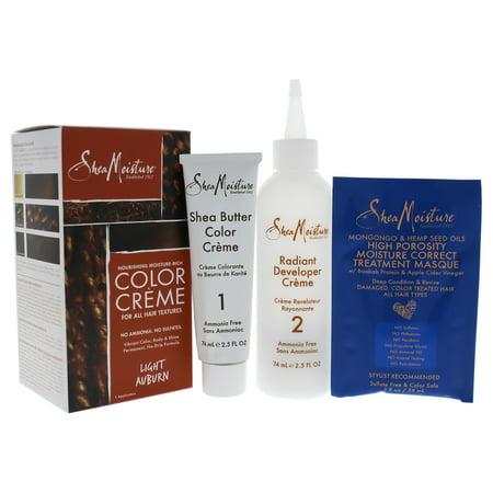 Light Auburn Hair (Shea Moisture Nourishing Moisture-Rich Color Creme - Light Auburn - 1 Application Hair)