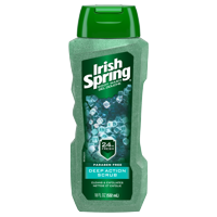 Irish Spring Deep Action Scrub Exfoliating Body Wash for Men - 18 fluid ounce