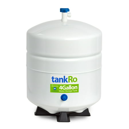- TankRo 4-Gallon Pressurized Water Storage Tank for Reverse Osmosis (RO) Systems, Full Set, NSF Certified