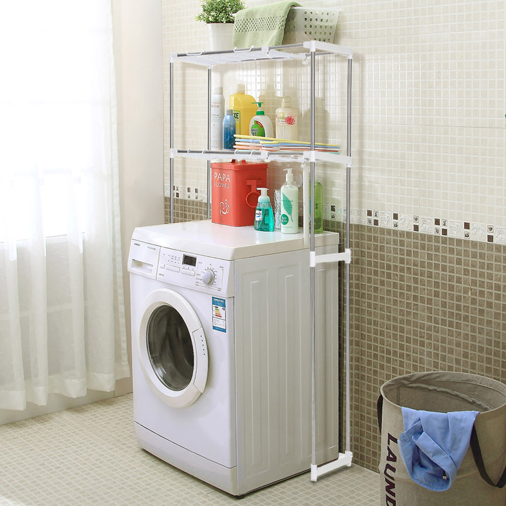 ikayaa steel 2-layer metal bathroom space saver over toilet width