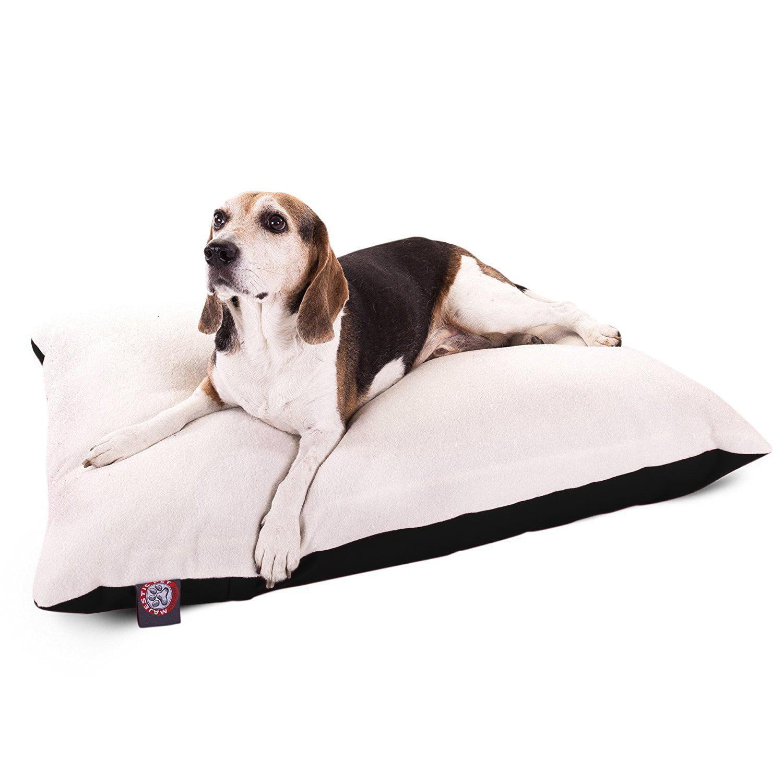"Majestic Pet Solid Color Rectangular Pillow Dog Bed Machine Washable Black Medium 30"" x 40"" x 8"""