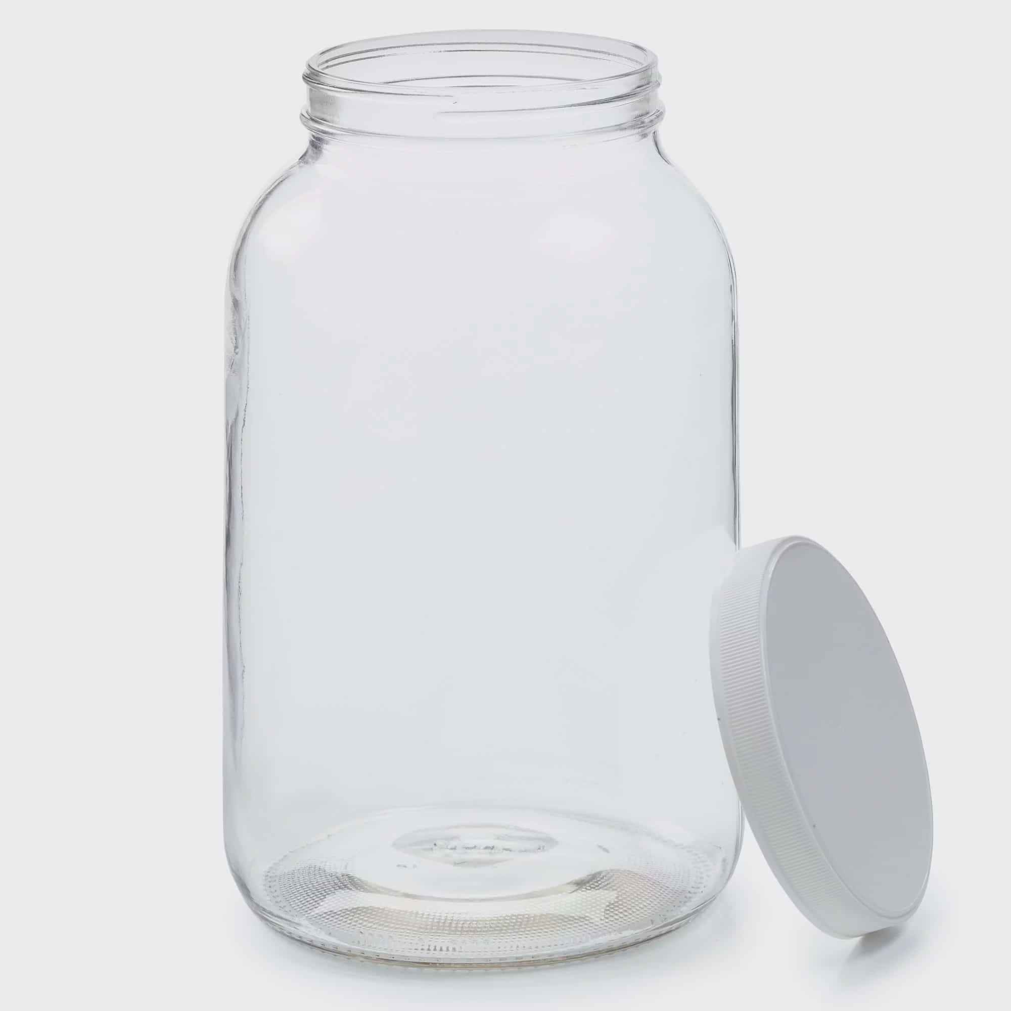 Empty 1 Gallon Glass Jar W Airtight Leakproof Plastic Lid Wide Mouth Easy To Clean Bpa Free Dishwasher Safe Usda Certified Kombucha Tea Kefir Canning Sun Tea Fermentation