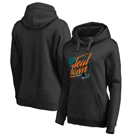 San Jose Sharks Fanatics Branded Women's Hometown Collection City of Teal Pullover Hoodie - Black](San Jose Party City)
